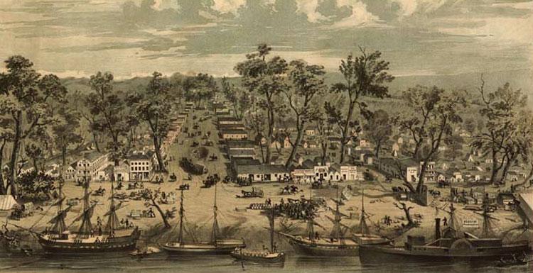 Сакраменто в 1849 году