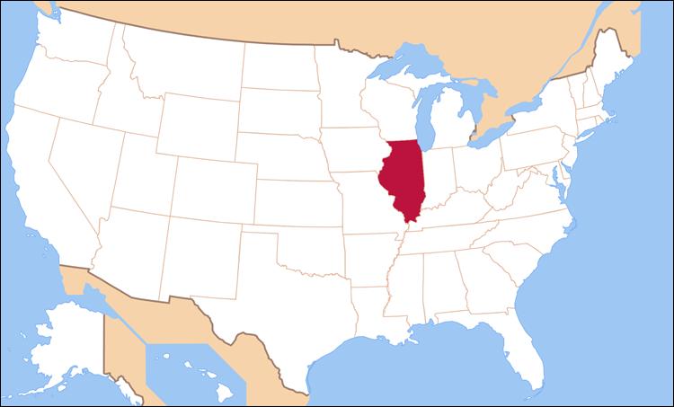 -карта штата иллинойс: